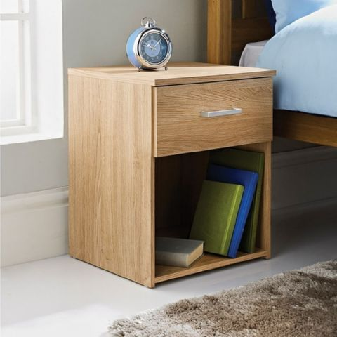 Oak Effect Bedside Table